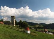 Pohľad z kopca nad dedinou