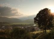 Západ slnka nad údolím