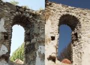 Predný oblúk západného múra - pohľad z interiéru