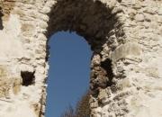 Predný oblúk západného múra - pohľad z interiéru - po konzervácii