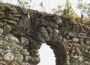 Predný oblúk západného múra - pohľad z exteriéru - pred konzerváciou