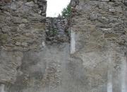 Východný oblúk v presbytériu - pred konzerváciou
