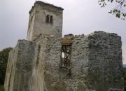 Oblúk v presbytérium počas konzervácie