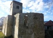Oblúk v presbytérium po dokončení konzervácie