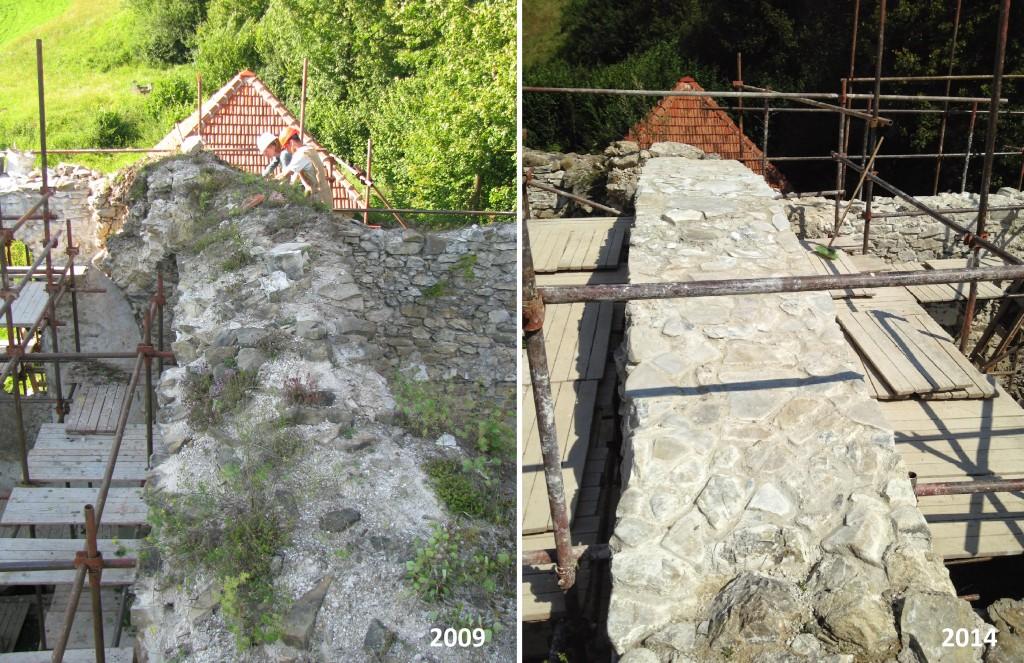 Porovnanie hlavného oblúka z hora