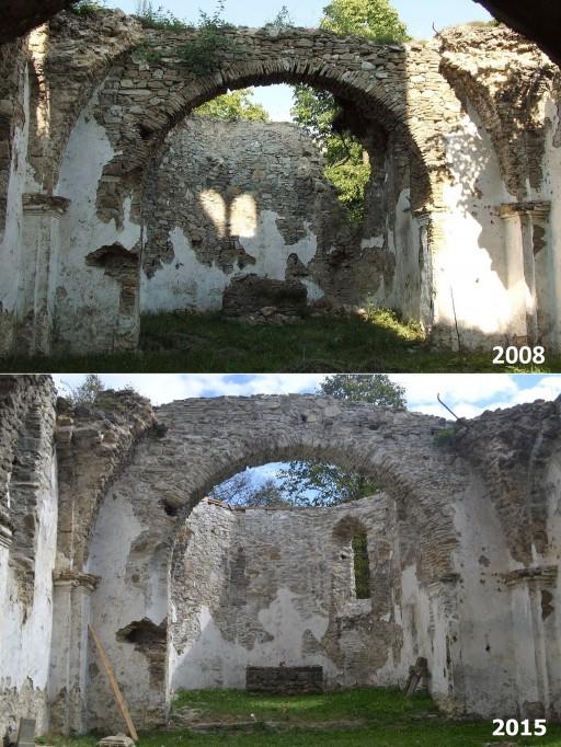 Porovnanie východný múr presbytéria
